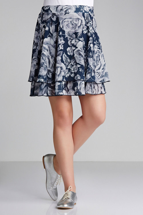 Emerge Floral Layered Skirt
