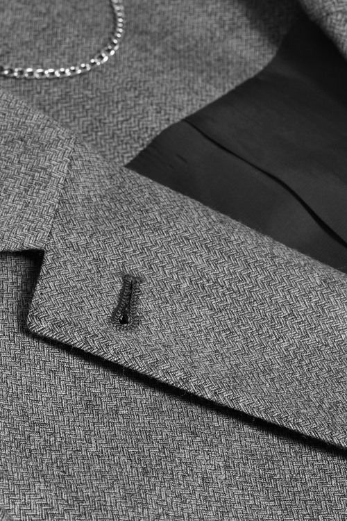 Next Grey Herringbone Wool Jacket