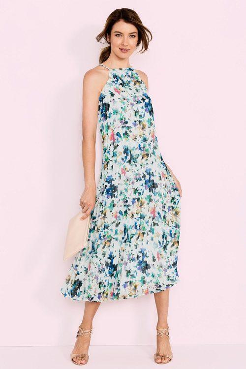 Grace Hill Bib Front Pleat Dress