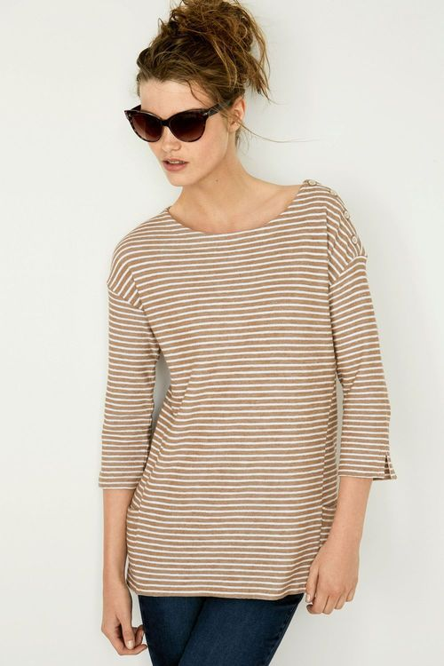 Next Stripe Pocket Top