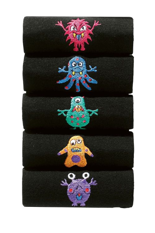 Next Monster Embroidery Socks Five Pack