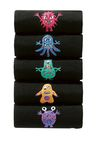 Next Black Monster Embroidery Socks Five Pack