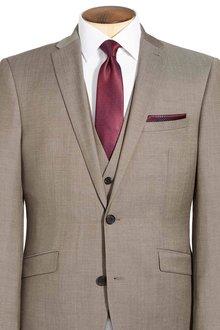 Next Taupe Italian Wool Waistcoat
