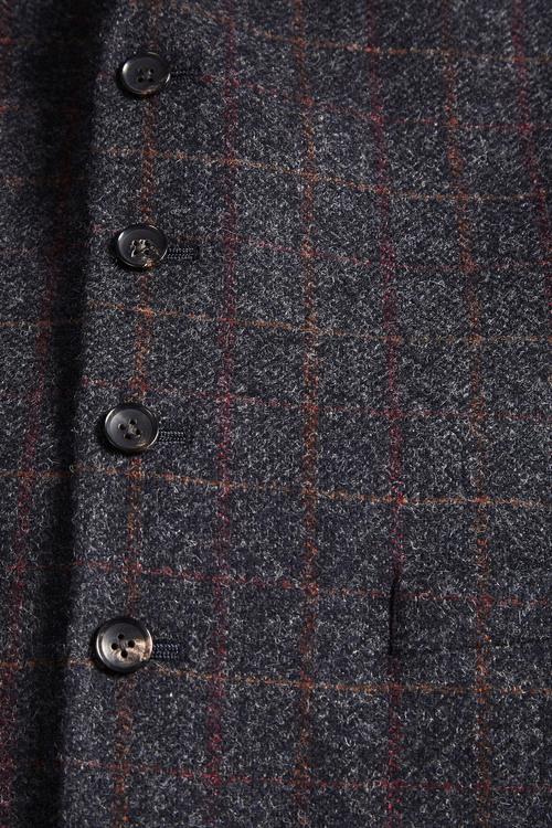 Next Large Check Textured Waistcoat