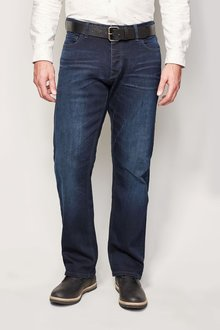 Next Ink Belted Jeans With Stretch
