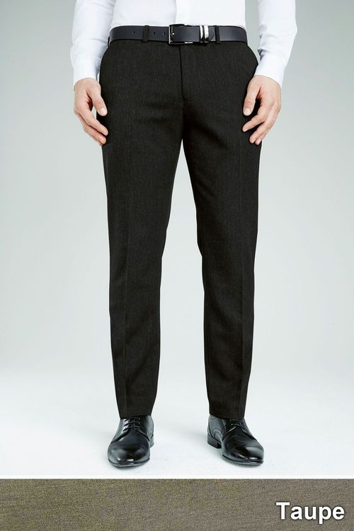 Next Taupe Plain Front Trousers