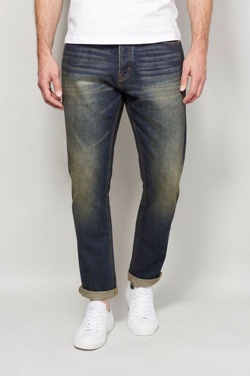 Next Dirty Denim Distressed Jeans With Stretch