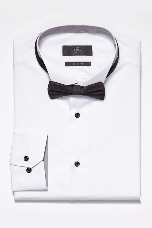 Next Wing Collared Shirt and Bow Tie Set