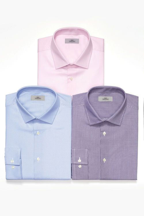 Next Pink  Purple & Blue Shirts Three Pack