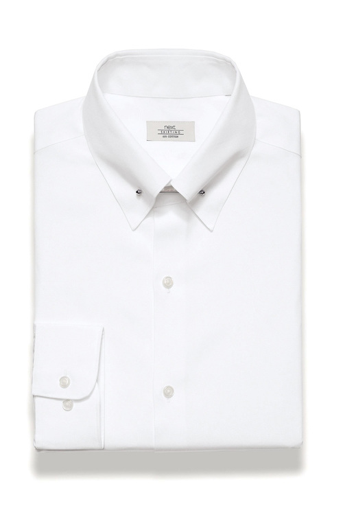 Next White Collar Pin Shirt