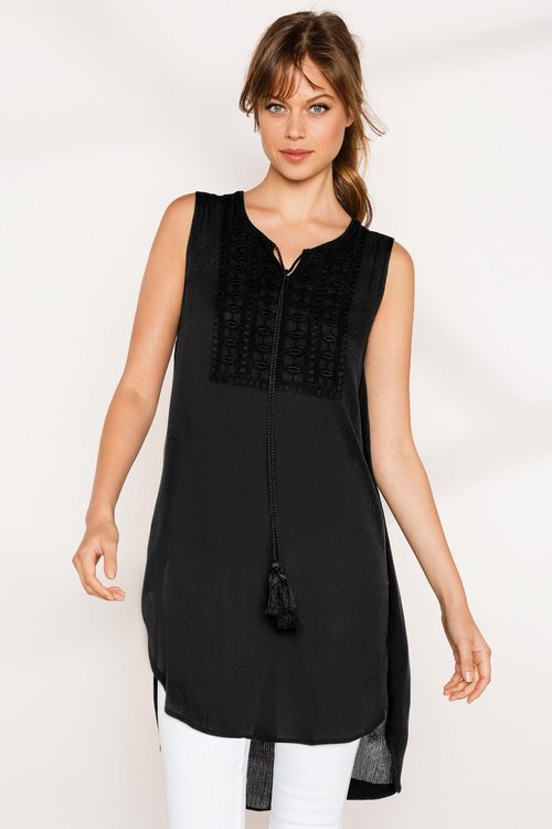 Emerge Crochet Front Tunic