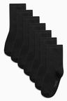 Next Black School Socks Seven Pack (Older Boys)