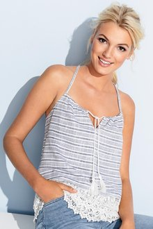 Emerge Lace Trim Cotton Top