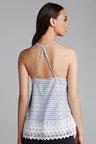 Emerge Lace Trim Cotton Top