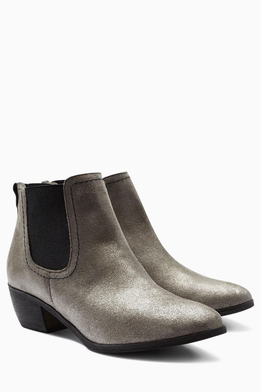 d93054dddd Next Pewter Metallic Leather Chelsea Boots Online   Shop EziBuy