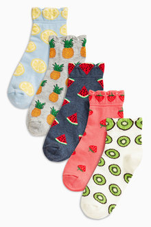 Next Multi Pattern Fruits Trainer Socks Five Pack