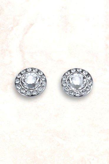 Next Sterling Silver Cushion Set Stud Earrings