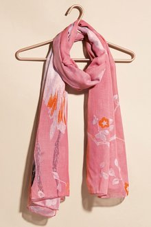 Next Pink Flamingo Print Scarf