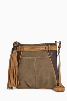 Next Khaki Casual Messenger Bag