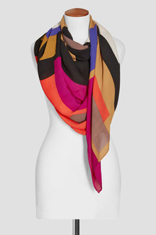 Next Red Geo Colourblock Scarf