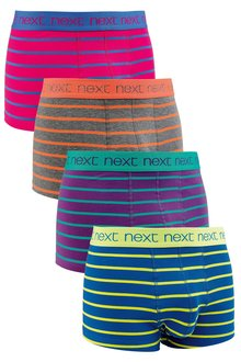 Next Bright Stripe Hipsters Four Pack