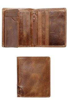 Next Brown Leather Multi Card Wallet