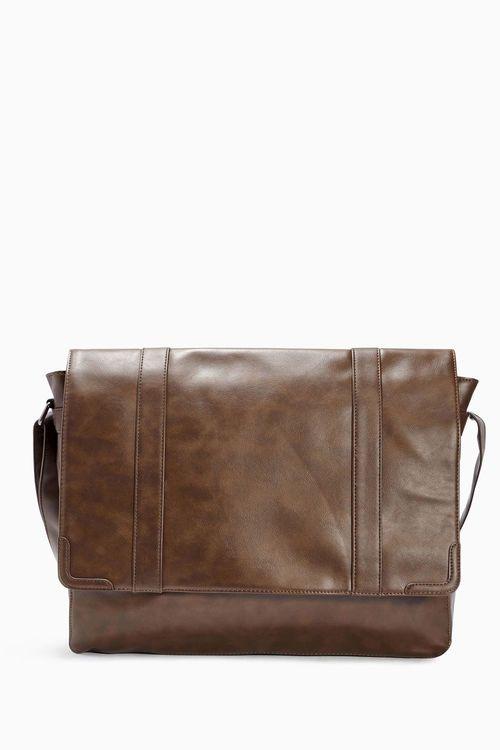 Next Brown Messenger Bag