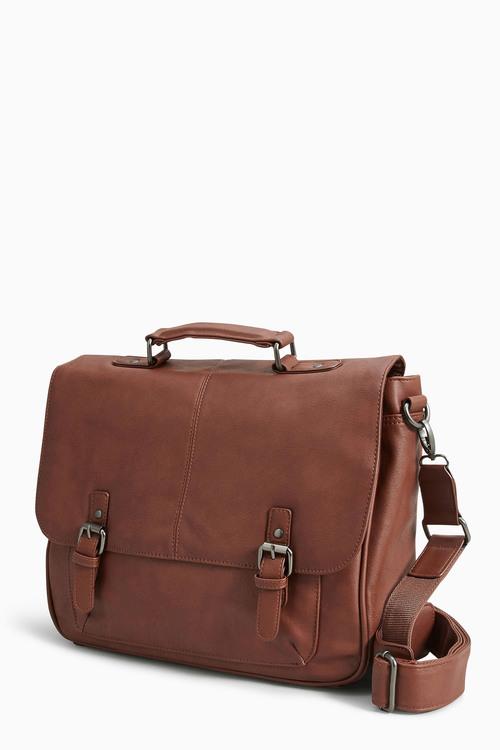 Next Tan Briefcase