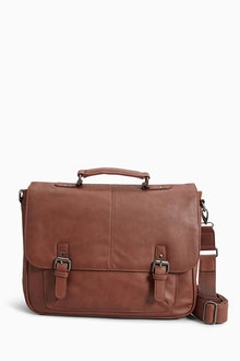 Next Tan Briefcase