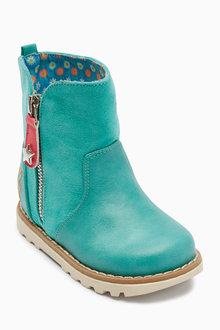 Next Zip Detail Boots (Younger Girls)