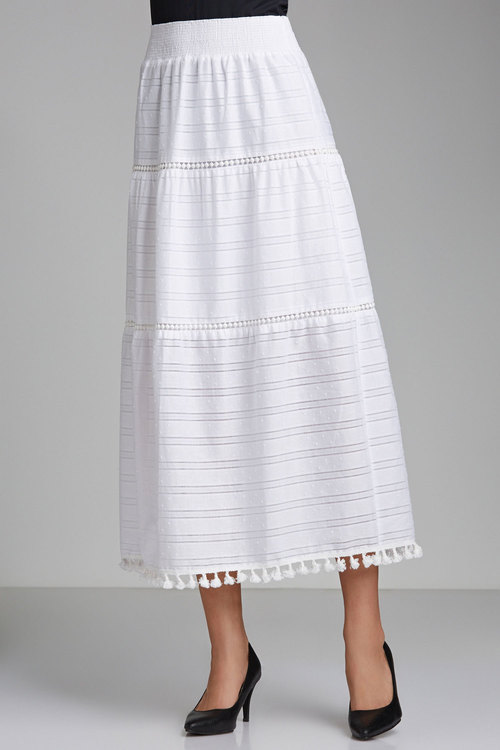 Capture Tassel Trim Maxi Skirt
