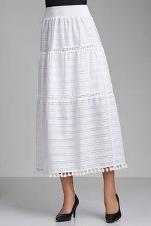 Capture Tassel Trim Maxi Skirt
