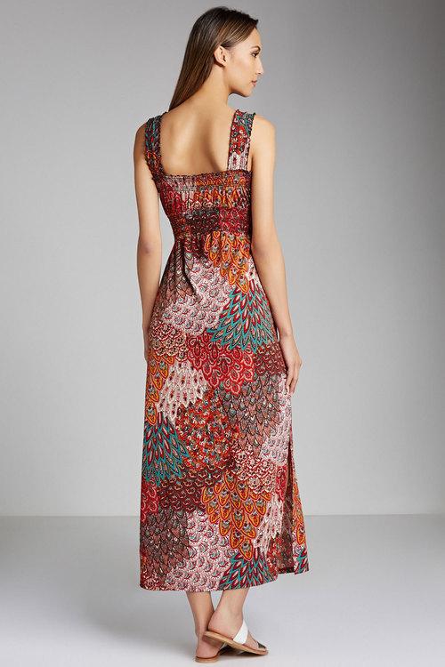 Capture Shirred Maxi Dress Online | Shop EziBuy