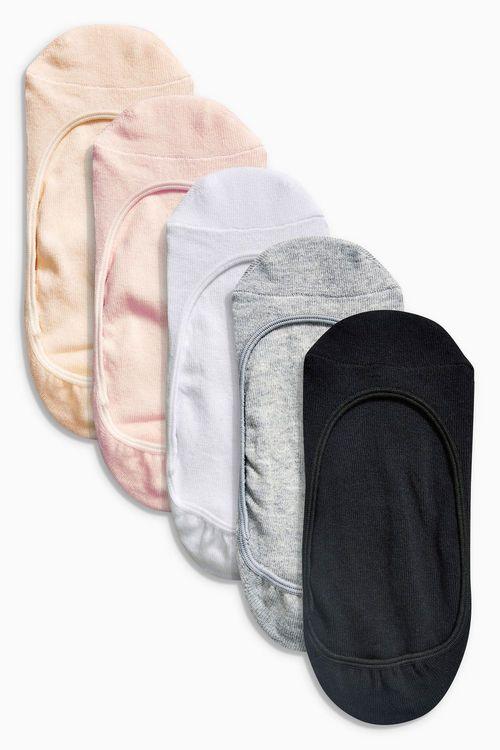 Next Black/Neutral Cotton Mix Footsies Five Pack