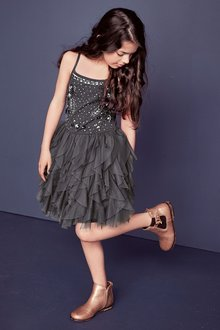 Next Sparkle Dress (4-16yrs)