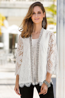 Plus Size - Together Woman Lace Kimono