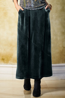 Together Maxi Velour Skirt