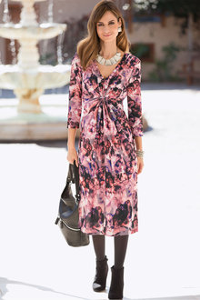Plus Size - Together Woman Print Dress