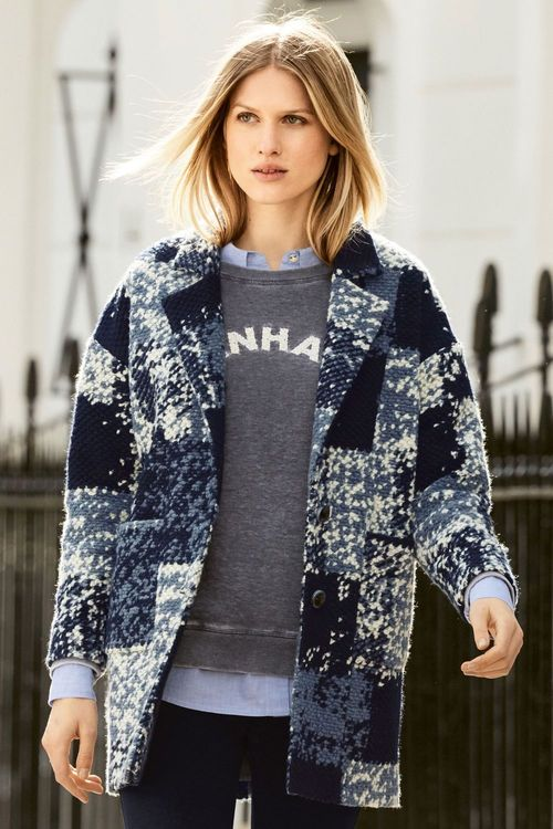Next Blue Patched Jacket Online | Shop EziBuy