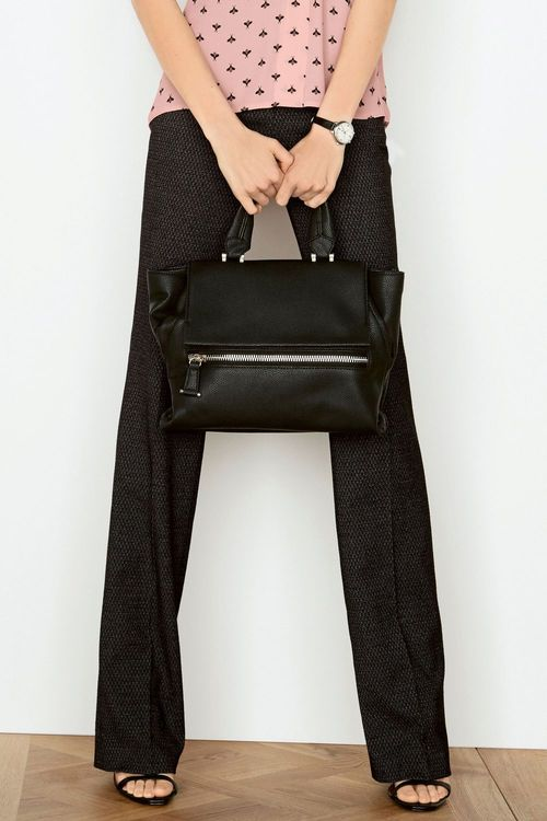 Next Charcoal Etched Boot Cut Trousers - Petite