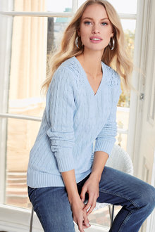 Together Lace Shoulder Sweater - 165758