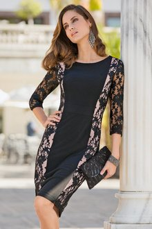 Together Lace Panel Dress