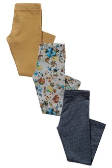 Next Ochre Leggings Three Pack (3-16yrs)