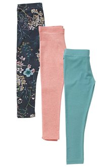 Next Multi Leggings Three Pack (3-16yrs)