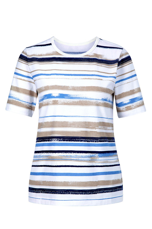 Capture European Striped T-Shirt
