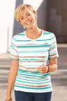 Capture European Striped T-Shirt