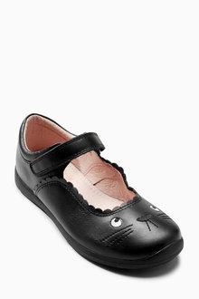 Next Black Mary Jane Cat Shoes (Older Girls)