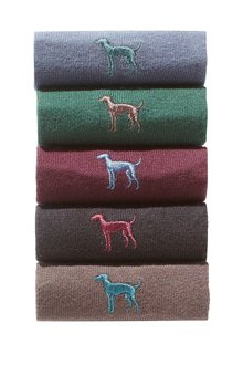 Next Dog Embroidered Socks Five Pack