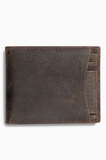 Next Brown Signature Italian Leather Wallet