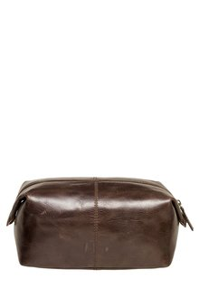 Next Brown Leather Wash Bag
